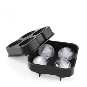 Domi Ice Ball Mold Flexible Silicone Sphere Ice Tray