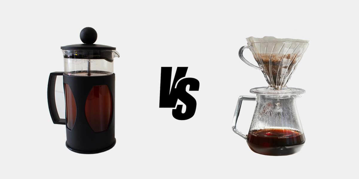 french press vs pour over, difference between french press and pour over